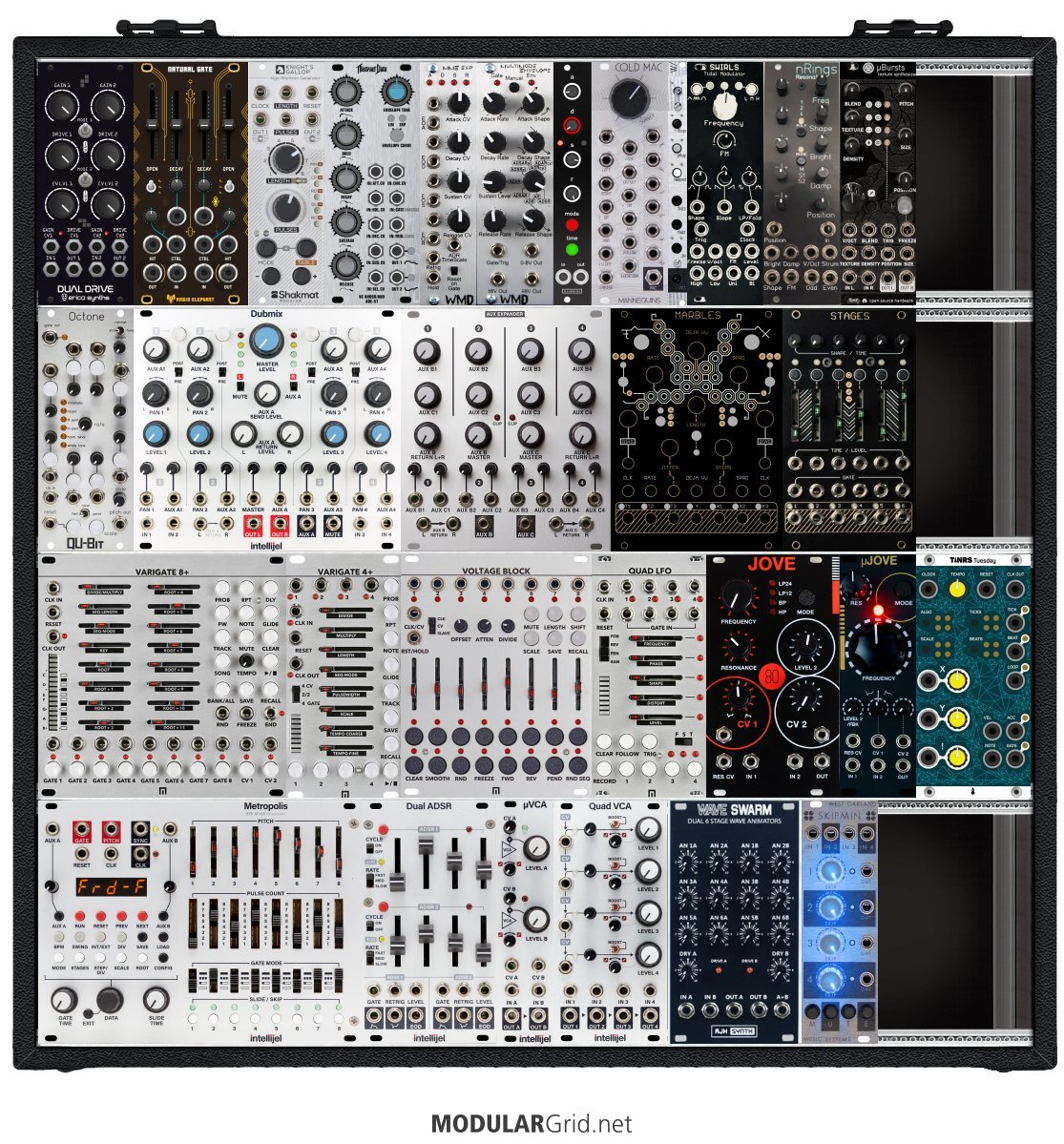 racks on modulargrid