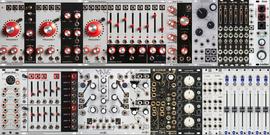 104hp x 2 - Three VCOs! v.3.4 - Amp and Tone - MultiENV - All Analog