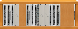 Mult kit rack with faceplates