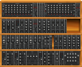 Moog IIIP interpretation with behringer modules,substituting the 912 for a steady state fate with Emerson Moog sauce (copied from kurkesmurfer)