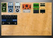My pockmarked Pedalboard