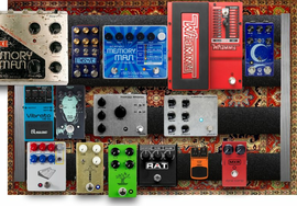 My sloping Pedalboard